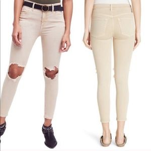 FreePeople NWT High Waist Busted Knee Skinny Jeans